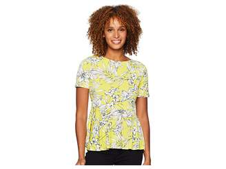 ECI Short Sleeve Peplum Top Women's Clothing