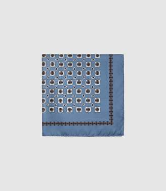 Reiss Dele - Silk Pocket Square in Airforce Blue