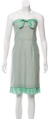Tibi Striped Strapless Dress
