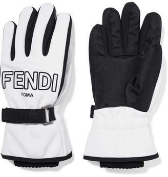 Fendi Two-tone Shell Ski Gloves