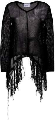 Dondup fringed open knit jumper