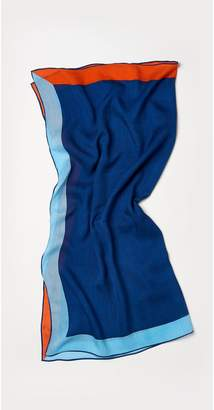J.Mclaughlin Claudia Silk Linen Scarf in Color block