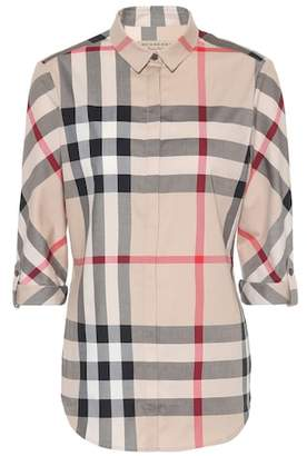 Burberry Check cotton shirt