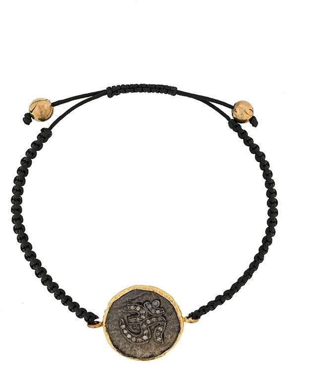 Gemco 18kt gold and diamond Hamsa bracelet