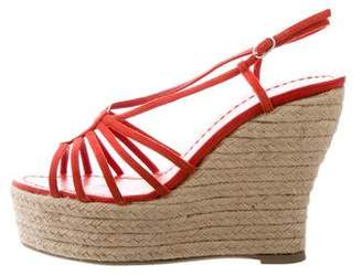 Castaner Leather Espadrille Wedges