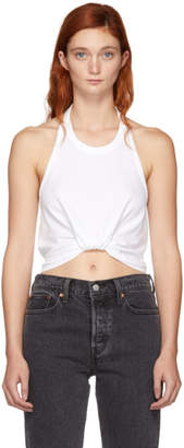 Alexander Wang White Twist Halter Top