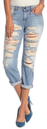 Alice + Olivia Scott Distressed Boyfriend Jeans
