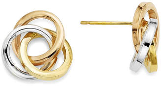 FINE JEWELRY 14K Tri-Color Gold Love Knot Earrings