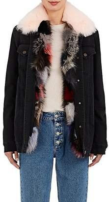 Mr & Mrs Italy Women's Fox-Fur-Lined Denim Jacket