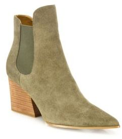 KENDALL + KYLIE Finley Suede Point Toe Booties $190 thestylecure.com