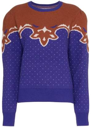 Blend of America PushBUTTON polka dot knitted wool jumper