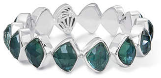 Stephen Dweck Faceted Green Quartz & Mother-of-Pearl Doublet Bracelet