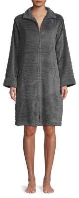 Miss Elaine Textured Zip Robe