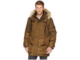 Andrew Marc Oxford Combo Parka w/ Faux Fur Hood