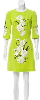 Dolce & Gabbana Embroidered Wool Dress