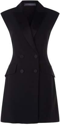 Alexander McQueen Double Breasted Mini Tuxedo Dress