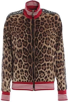 Dolce & Gabbana Leopard Print Bomber