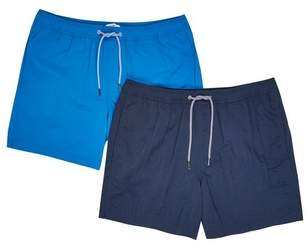 Mens Navy And Cobalt Twin Pack Swim Shorts