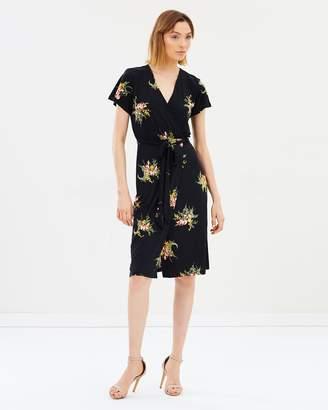 Warehouse Tropical Bunch Jersey Dress