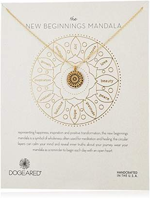 Dogeared The New Beginnings Mandala Necklace Small Center Star Dipped Chain Necklace