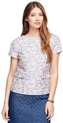 Short-Sleeve Floral Jacquard Top $128 thestylecure.com