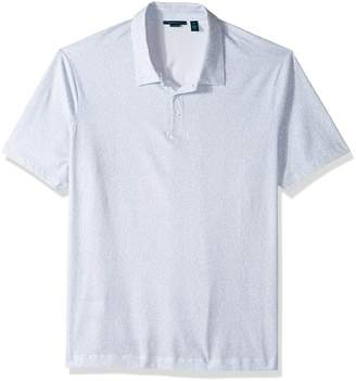 Perry Ellis Men's Big Pima Paisley Print 3 Button Polo Shirt