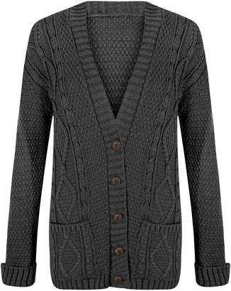 ApplesBottom Women Granddad Button Long Sleeve Knitted Cardigan