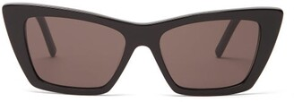 Saint Laurent New Wave Cat Eye Acetate Sunglasses - Womens - Black