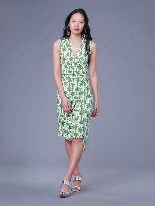Diane von Furstenberg Sleeveless Yahzi Silk Jersey Wrap Dress