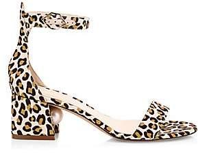 Nicholas Kirkwood Women's Miri Leopard-Print & Faux-Pearl Sandals