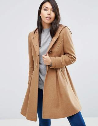 ASOS Swing Duffle Coat with Hood $98 thestylecure.com