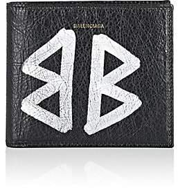 Balenciaga Men's Arena Leather Bazar Billfold - Black