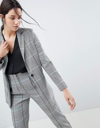 Asos Design DESIGN longline slim blazer in coloured check