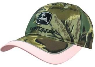 John Deere Ladies Twill Camouflage Cap Pink