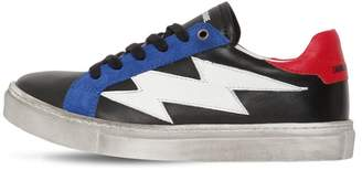 Zadig & Voltaire Color Block Leather Sneakers