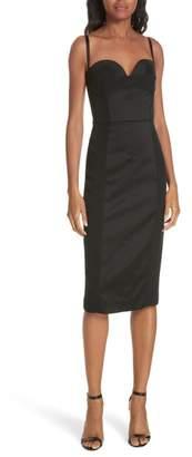 Milly Hannah Stretch Satin Bustier Body-Con Dress