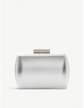 Dune Brights faux-leather barrel clutch