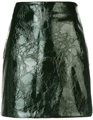Nomia textured straight mini skirt