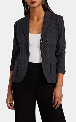 Barneys New York Women's Cotton-Cashmere Three-Button Blazer - Charcoal