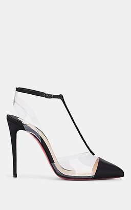 Christian Louboutin Women's Nosy Strass Satin & PVC Pumps - Black