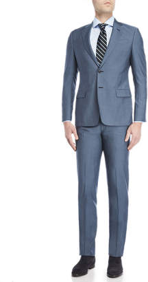 Giorgio Armani Two-Piece New Blue Wool Suit