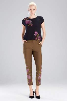 Josie Natori Novelty Tees T-Shirt With 3D Embroidery