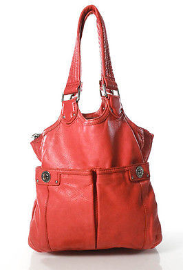Marc By Marc Jacobs Marc By Marc Jacobs Coral Pink Leather Small Pocket Front Tote Handbag