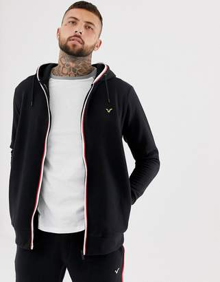Voi Jeans Tracksuit Zip Through Hoodie With Contrast Piping