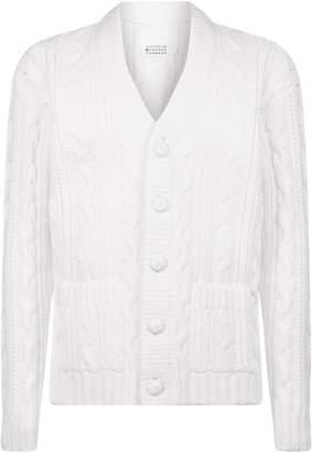 Maison Margiela Coated Button-Up Cardigan