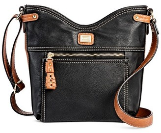 Bolo Women's Faux Leather Crossbody Handbag - Black/Brown $34.99 thestylecure.com