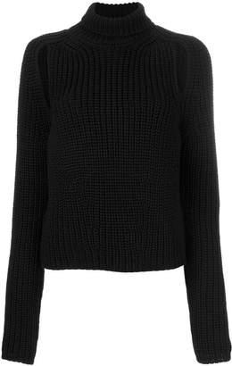 Calvin Klein slit detailing turtleneck jumper
