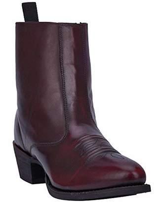 Laredo Men's Antique Cherry Side Zipper Western Boot Round Toe 8 EE