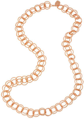 Betsey Johnson Circle Link Long Necklace