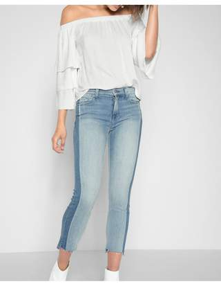 7 For All Mankind Roxanne Ankle With Side Shadow Seam And Step Hem In Bright Bristol
